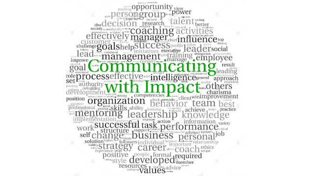 Webinar - Communicate with impact